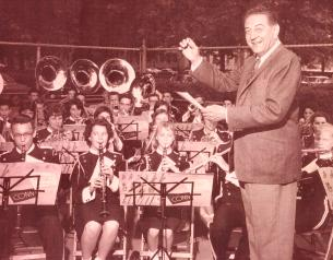 guy conducts a high school band 1961