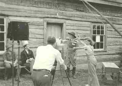 filming Here Will I Nest in Poplar Hill Ontario in Aug 1941 - Mel Turner is at the camera