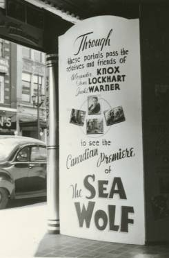 sea wolf advertising capitol theatre in london ontario april 1941